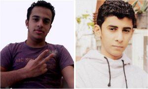 Left: Mustafa Al Muqdad (16), Right: Jehad Sadeq (16)